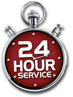 stop watch that says 24 hour service