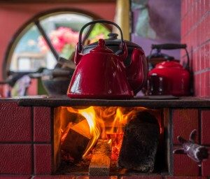 tea kettle catching on fire